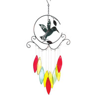 Hummingbird With Glass Chimes - Default