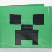 SALE Minecraft Creeper Duct Tape Wallet