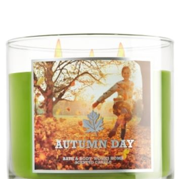 Autumn Day 14.5 oz. 3-Wick Candle   - Slatkin & Co. - Bath & Body Works