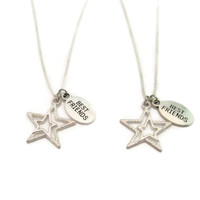 Star Necklace Set Best Friends Jewelry  Star Jewelry  Set  Matching Necklace Set Matching Star Necklace Bff Necklace Set