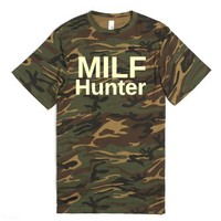 MILF Hunter-Unisex Green T-Shirt