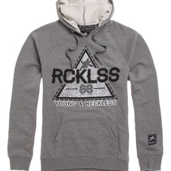 Young & Reckless Trap Star Hoodie - Mens Hoodie - Grey - Small