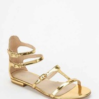 Messeca Hadia Metallic Caged Sandal- Gold 7