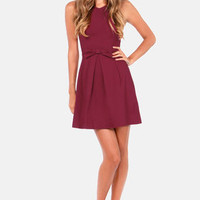Hot Off the Precious Burgundy Dress