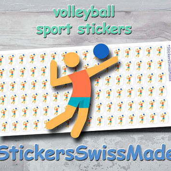 PLANNER STICKER    volleyball player    sport    small colored icon   for your planner or bullet journal