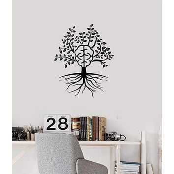 Vinyl Wall Decal Brain Tree Branch Leaves Home Interior Decor Stickers Mural (ig5887)