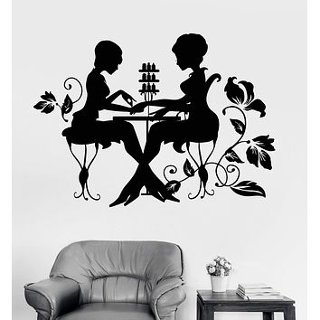 Vinyl Wall Decal Nail Studio Manicure Beauty Salon Stickers Unique Gift (1248ig)