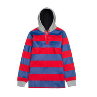 Hooded Rugby Red/Blue