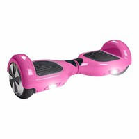 Hover Boost, Airboard Scooter, Hoverboard Two wheels Smart Self Balancing Scooters,Drifting Board with LED Light, Free + Carring Bag + Bluetooth Hands Free Headsset QWA2 (Pink)