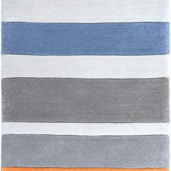 Chic Kids Area Rug Blue, Gray