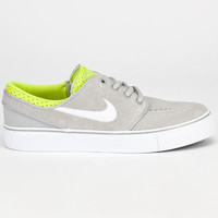 Nike Sb Stefan Janoski Boys Shoes Grey/White/Venom Green  In Sizes