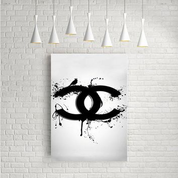 COCO CHANEL LOGO DRIPS ARTWORK POSTERS