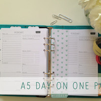 A5 Day on 1 Page 2014 Calendar Printable Planner - Simple - Filofax - INSTANT DOWNLOAD