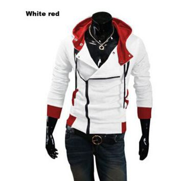 Assassin   Sweatshirt  11 Color M-6XL Men's Black Red Casual Hoodie Cosplay Sweatshirt (Asia Size) M-6XL