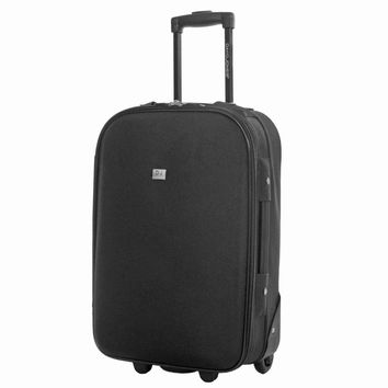 DAVIDJONES 28 inches large luggage fixed wheels trolly suitcase