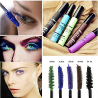2014 new brand Harajuku zipper Japanese cosplay sky gradient color mascara five color rimel makeup