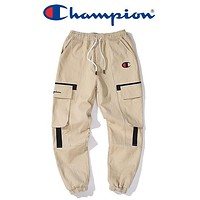 Champion New fashion embroidery letter sports and leisure pants Khaki