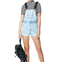 One Teaspoon Superfreak Shortalls - Classic Blue