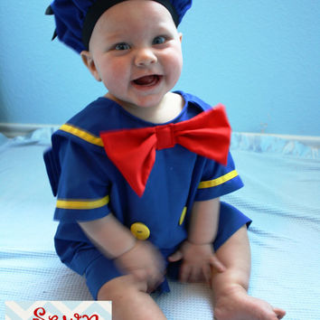 Disney Donald Duck inspired shirt and shorts set/costume/dress up boy outfit sizes 1,2,3,4