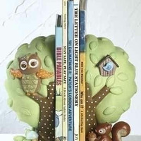 4 Nursery Bookends - Baby Owl