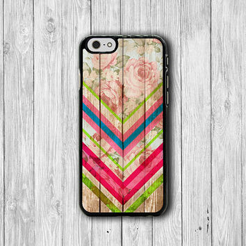 Flower Color Chevron FLORAL iPhone Cases, Beautiful iPhone 6, iPhone 5S Cover Accessories Pocket Cell Phone iPhone 4S, iPhone 6 Plus Wooden