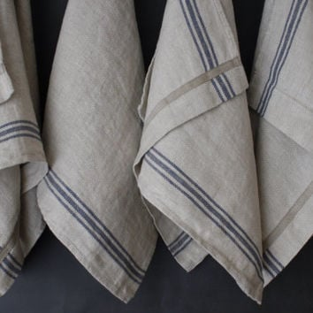 French Linen Tea Towel  Rustic Country style   made by mooshop