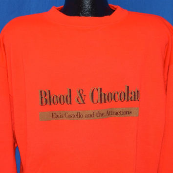 90s Elvis Costello Blood & Chocolate Sweatshirt Extra-Large