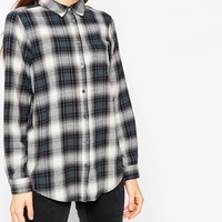 ASOS Boyfriend Shirt in Grey Check