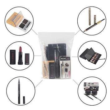 LMF57D 7pcs/set Qibest Eye Makeup Set include Eye Shadow eyeliner gel eyeliner pencil eyebrow pencil mascara eyebrow powder lipstick