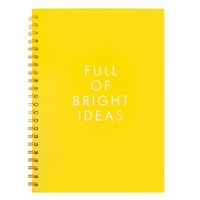 A4 HARD COVER NOTEBOOK: HELLO YELLOW