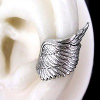 xx silver EAR CUFF Archangel angel wing design by RingRingRing