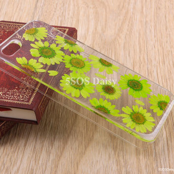 Daisy iPhone 5 case, iPhone 4 case, iPhone 4s case, iPhone 5s case, iPhone 5c case, Pressed Flower Galaxy S4 S5 Note 3 - 01005-5