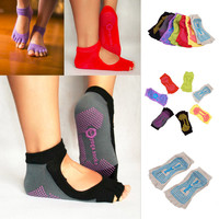 Women 5 toe Sport Pilates Yoga Sports Toe Socks NON-SLIP GRIP
