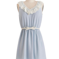 ModCloth Pastel Short Sleeveless A-line Open Skies Dress