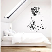 Vinyl Wall Decal Female Back Sexy Naked Girl Bedroom Decor Stickers Mural (g1851)