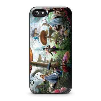 alice in wonderland disney iphone 5 5s se case cover  number 1