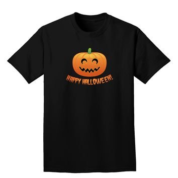 Happy Halloween Jack-o-lantern Adult Dark T-Shirt