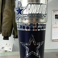 NFL Dallas Cowboys Travel Tumbler with Hi-Def Metallic Graphics 360 Wrap