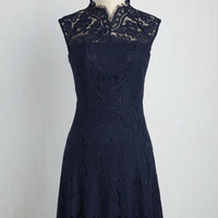 Celebrate Success Lace Dress in Navy | Mod Retro Vintage Dresses | ModCloth.com