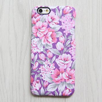 Classy Violet Pink Floral iPhone 6s case iPhone 6 plus Ethnic iPhone 5S iPhone 5C iPhone 4S/4 Case Samsung Galaxy S6 edge S6 S5 S4 Case 080
