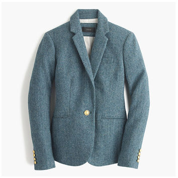 J.Crew Womens Campbell Blazer In Blue Herringbone