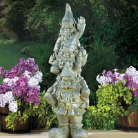 Stacked Garden Gnome Ceramic Statue