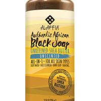 Authentic African Black Soap-Unscented (32oz.)