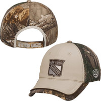 New York Rangers Old Time Hockey Chevak Realtree Adjustable Hat - Camo