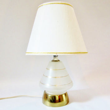 Vintage ATOMIC Lamp MINI GEOMETRIC Light Bedside 1950s