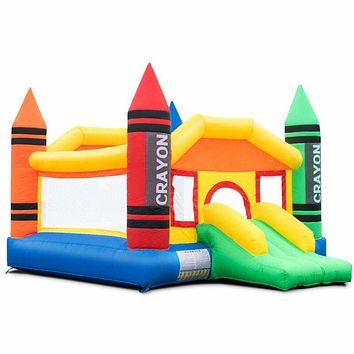 Large Inflatable Crayon Bouncy House,