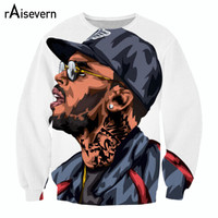 Raisevern new fashion 3D sweatshirts cartoon Chris Brown printed hoody tops man casual fitness outerwear plus size 3d clothes