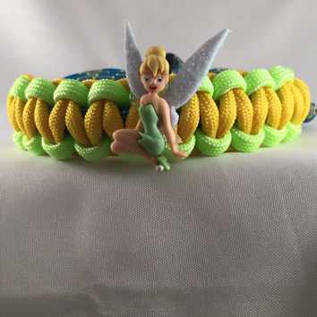 Sitting Tinkerbell - Children Paracord Heaven Survival Bracelet with Adjustable Knot Closure