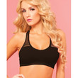 Pink Lipstick Sweat Sporty Breathable Mesh Offers Cooling Support W-removable Pads Black S-m
