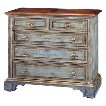 Sarreid Painted 5-Drawer Chest - Brown